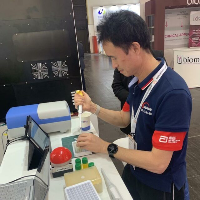 Don Wang 1st place winner of Formula-X 2019 Dusseldorf Race Pipetting skills contest