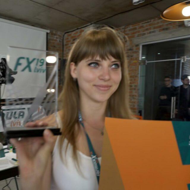 Gaibonuk Ivanna 1st place winner of Formula-X 2019 Lviv Race Pipetting skills contest