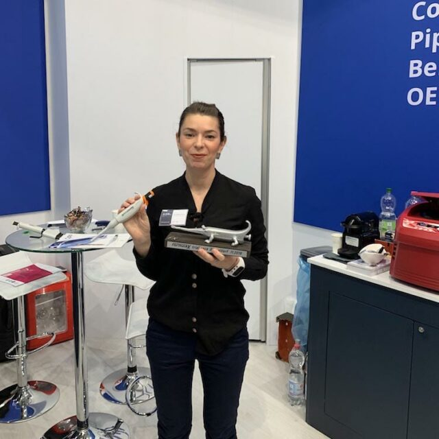 Andela Dordic 2 place winner of Formula-X 2019 Dusseldorf Race Pipetting skills contest