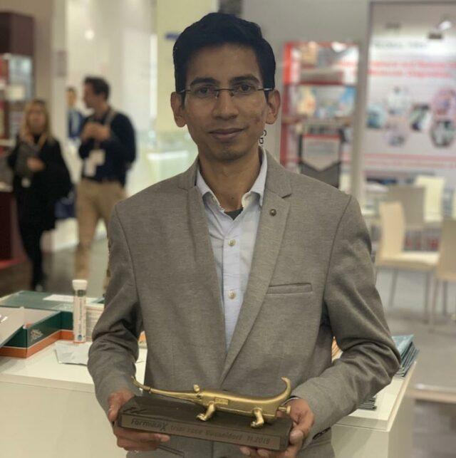 Ajith Kumar 3 place winner of Formula-X 2019 Dusseldorf Race Pipetting skills contest