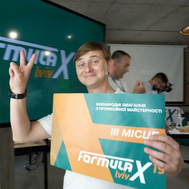 Valovyi Oleksii 3 place winner of Formula-X 2019 Lviv Race Pipetting skills contest