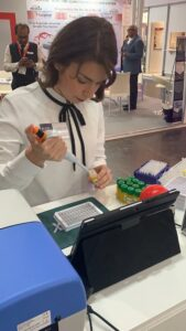Andela Dordic 2 place winner of Formula-X 2019 Dusseldorf durring Race at Pipetting Skills Contest