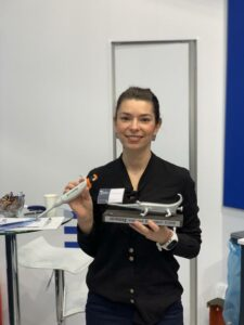 Andela Dordic 2 place winner of Formula-X 2019 Dusseldorf Pipetting Skills Contest with Prize and brand pipette